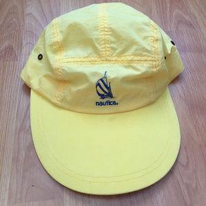 Vtg Nautica Sailing Logo Long Bill Five Panel Hat